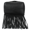 Leather Fringe Purse and Handbag - Boho Crossbody Purses for Women with Tassel (Small, Black)
