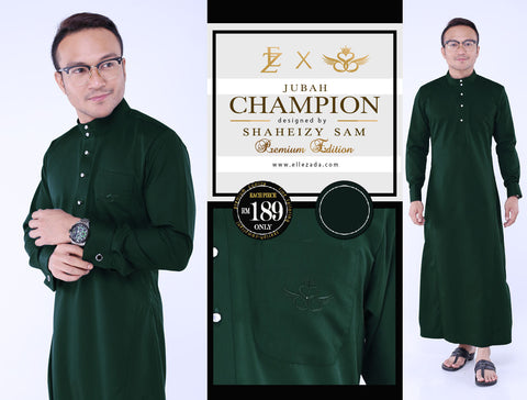 Royal Green Champion Jubah