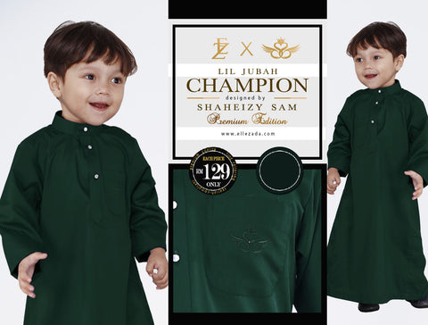 Lil Royal Green Champion Jubah