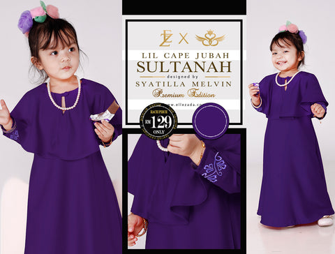 Lil Amethyst Sultanah Cape Jubah