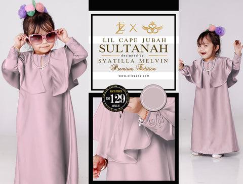 Lil Crystal Sultanah Cape Jubah