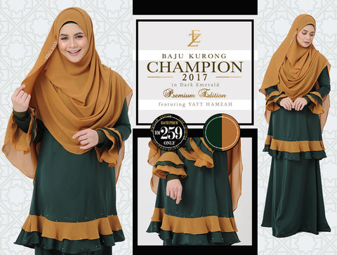 Baju Kurong Champion 2017 - Dark Emerald