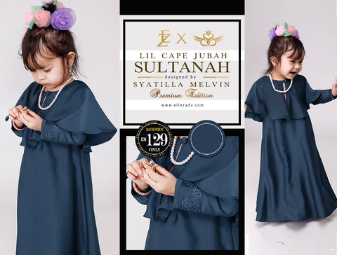 Lil Nickel Sultanah Cape Jubah