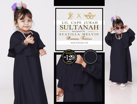 Lil Onyx Sultanah Cape Jubah