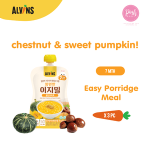 [Bundle of 2] ALVINS Korea Baby Porridge Meal - Chestnut and Sweet Pumpkin