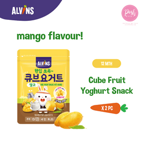 [Bundle of 2] ALVINS Cube Fruit Yogurt Snack - Mango