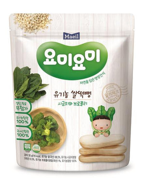 Maeil Organic Rice Rusks - Spinach & Broccoli