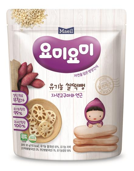 Maeil Organic Rice Rusks - Purple Sweet Potato & Lotus Roots