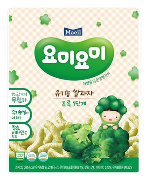 Maeil Organic Rice Snacks Stage 1 - Broccoli