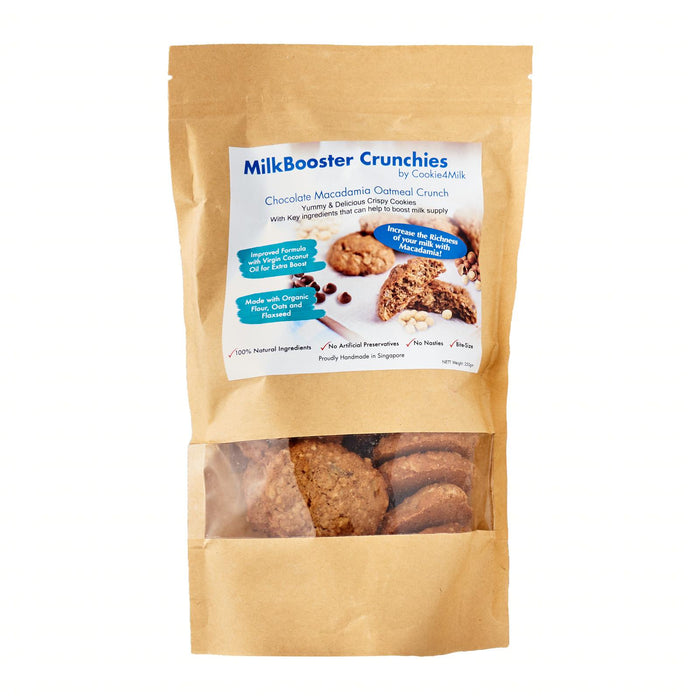 Cookie4milk Milkbooster Crunchies - Macadamia Chocolate