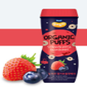 Maeil Yummy Yummy Organic Puffs - Strawberry & Blueberry