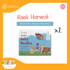 [Bundle of 2] The Foodiepedia Organic Baby Noodle - Wheat, Carrot, Pumpkin, Sweet Potato