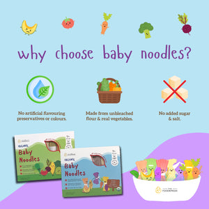 [Bundle of 2] The Foodiepedia Organic Baby Noodle - Beetroot, Corn, Broccoli, Spinach, Tomato