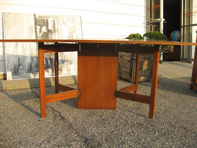 George Nelson - Vintage 1950s George Nelson Gate Leg Dining Table For Herman Miller