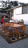 Leslie Diamond Conant Ball Dinning Table 6 Chairs 2 Leaves Dinning Set