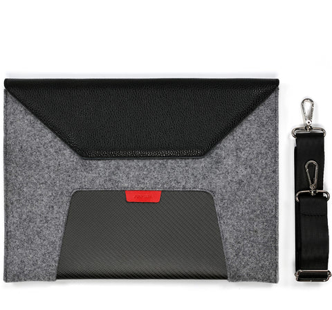 Laptop Case GTR - Leather and Felt