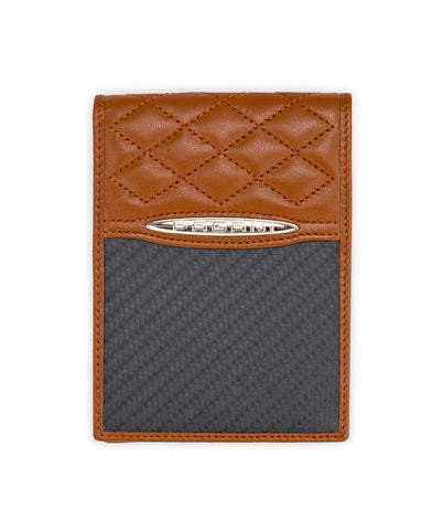 Pagani Automobili Wallet - Brown Leather and Carbon Fiber