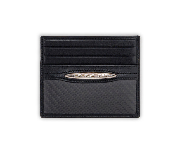 Pagani Automobili Card and BV Holder - Black Leather and Carbon Fiber