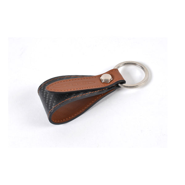 Pagani Automobili Key Holder assembling kit - Brown Leather and Carbon Fiber