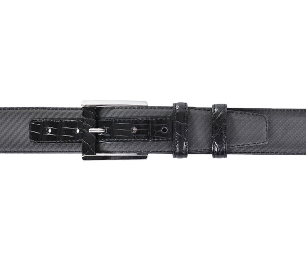 Black Crocodile&Carbon Fiber Belt