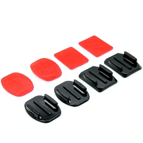 4pcs Flat and Curved Mounts with 3M Adhesive for GoPro HD & Hero 1 2 3 3+ 4