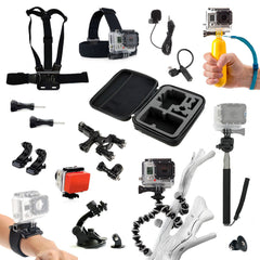 MEGA GoPro Accessories Pack Head Chest Strap & Monopod + More HD & Hero 1 2 3 4