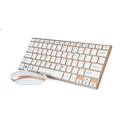 Premium White & Gold Wireless 2.4GHz Keyboard & Mouse For Computer PC Laptop Mac