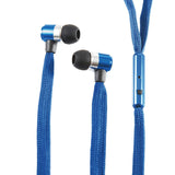 Stereo 3.5mm Shoelace In Ear Noise Reducing Headphones For Tablets, MP3 & Smart Phones