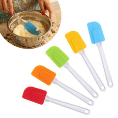 Silicone Clear Spatula Scraper Baking Cooking Mixer Kitchen Utensil Tool Cake