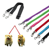 Dual Double Twin 2 Dog Puppy Training Walking Clip On Lead Leash Coupler