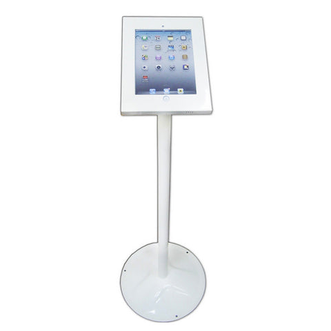 Exhibition Retail Display Floor Mounted POS Stand Holder For iPad 2 3 4 Air