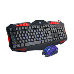 Frostycow USB Wired Backlit Gaming Keyboard and Mouse Set