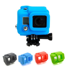 Silicone Rubber ShockProof Protective Skin Case Cover Shell For GoPro Hero 3 3+