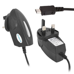 UK Mains 3 Pin Wall Plug Micro USB Charger For Mobile Smart Phones - Samsung etc