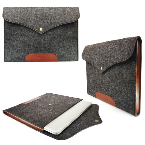 "ORDEL® Talos Tan & Grey Felt Laptop Sleeve Case Cover For Apple Macbook Pro/Retina/Air 11"" 13"" 15"""