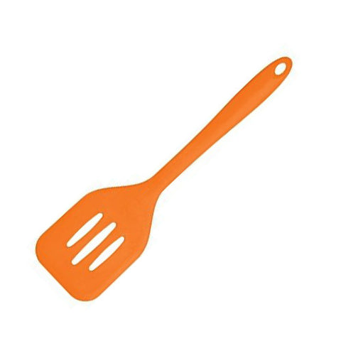 ... Silicone Fish Slice Slotted Turner Spatula Burger Cooking Kitchen  Utensil Tool ...