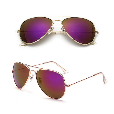 Unisex Mens Womens Ladies Retro Aviator Mirrored Sunglasses Aluminium Eyewear