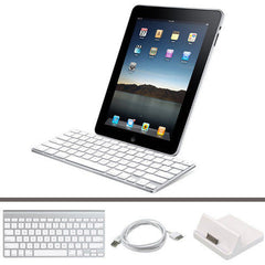 Slim Wireless Bluetooth Keyboard + Dock Station + USB Cable For iPad 2/3