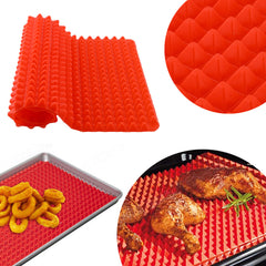 Non Stick Fat Reducing Silicone Pyramid Oven Tray Cooking Mat Baking Tray Sheet