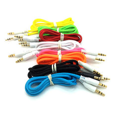 3.5mm Strong Braided Aux Input Coloured Jack Lead Cable IPod, iPad, iPhone