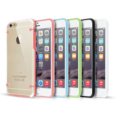 Clear Hard Back Silicone TPU Bumper Cover Case For New Apple iPhone 6 & 6+ PLUS 6S & 6S+ PLUS