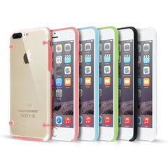 Clear Hard Back Silicone TPU Bumper Cover Case For New Apple iPhone 7 & 7+ PLUS