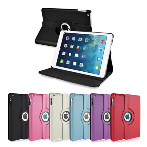360° Smart PU Leather Rotating Case Cover Stand For Apple iPad 6 Air 2 & Screen Protector