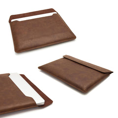 ORDEL® Brown PU Leather Case/Sleeve For Apple Macbook Pro, Retina and Air