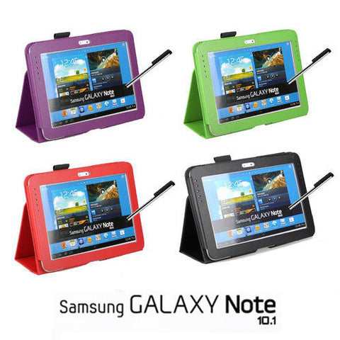 PU Leather Smart Case & Stylus for Samsung Galaxy Note 10.1""