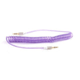 Expanding Coil Retracting 3.5mm Coloured Aux Jack Lead - iPod, iPad, iPhone