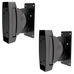 Slim Heavy Duty Adjustable Speaker Wall Mounts Surround Sound Stereo Satellite