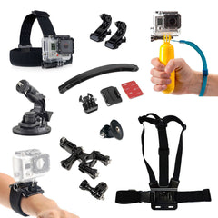SPORTS GoPro Accessories Pack Chest Strap & Bike Helmet + More HD & Hero 1 2 3 4