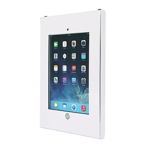 white anti theft secure enclosure case wall mount apple ipad 2 3 4 air 2 v2 - Ipad Wall Mount