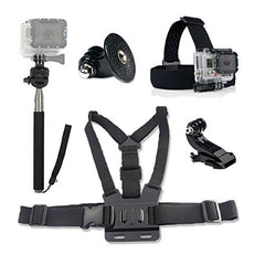 Ultimate GoPro Accessory Pack: Head/Chest Strap & Monopod For HD, Hero 1,2,3,3+,4
